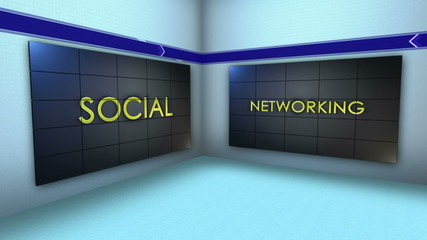 Social Network Keywords in Monitor and Room, Loop