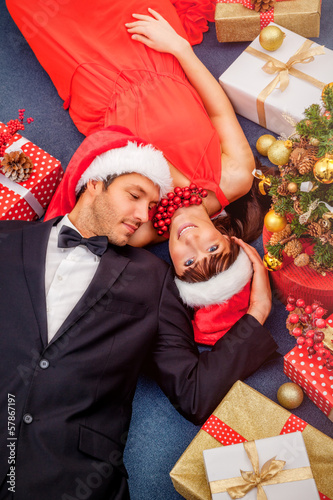 chrismas couple