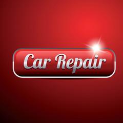 Car service vintage button