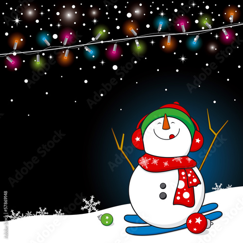Snowman design for christmas background