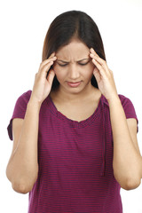 Young Indian teen with headache