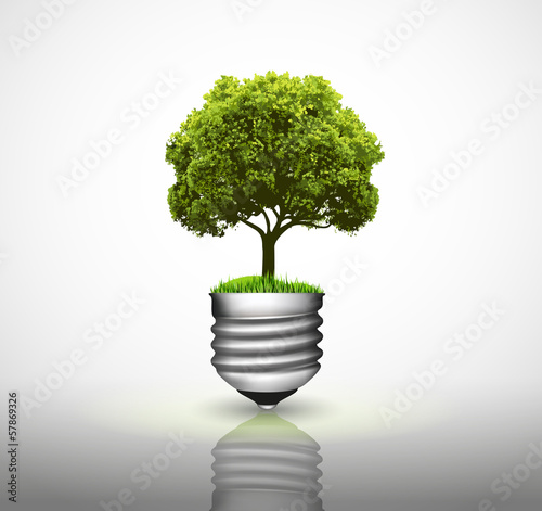 Bulb with green tree
