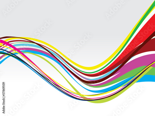 colorful wave abstract design
