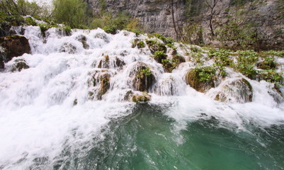 waterfall of Plitvice national park, Croatia