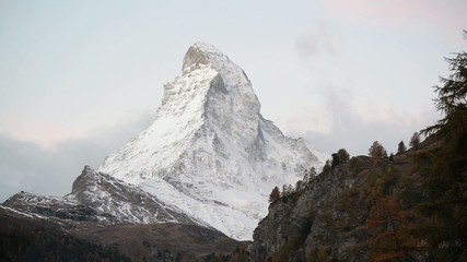 Stunning View Of Matterhorn In Swiss Alps.