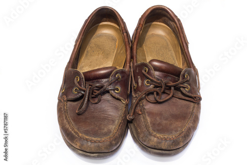 boat shoes or top-siders, isolated on white background