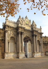 gates of dolmabahce palace in istanbul