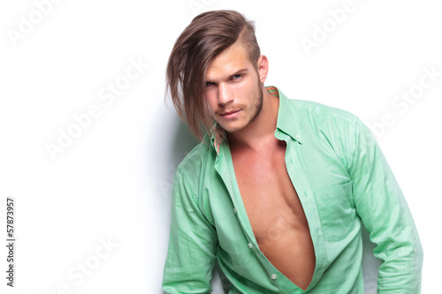 casual man with opened shirt