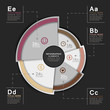 vector abstract 3d pie chart  infographics