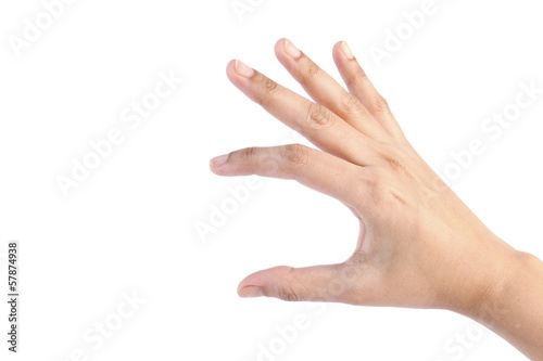 Femel hand isolated on white background