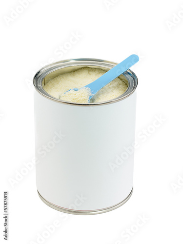 Powdered milk dairy food for baby.
