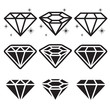 Diamond Icons Set - 57876515