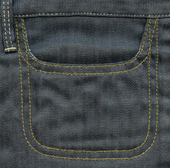 Empty  pocket of jeans