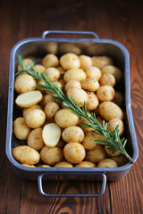 potatoes with herbs and spices for baking