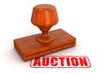 Rubber Stamp Auction (clipping path included)