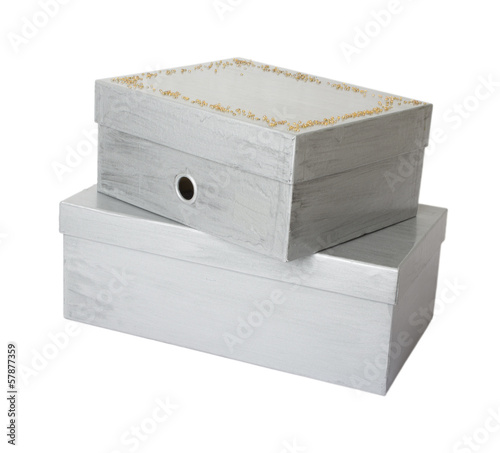 two  boxes isolated on white