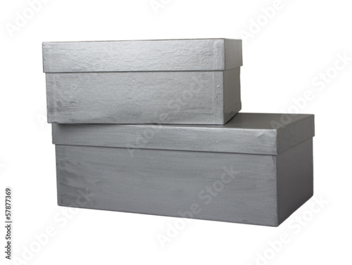 two shoe boxes isolated on white