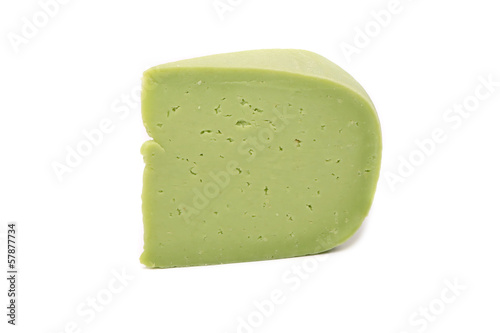 Close up of wasabi cheese.