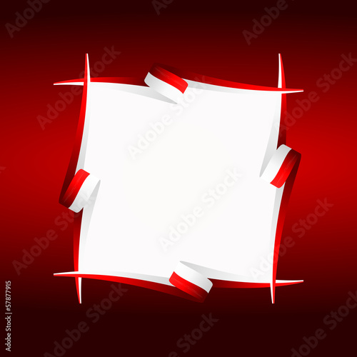 Abstract frame Japanese, Polish and Indonesian flag