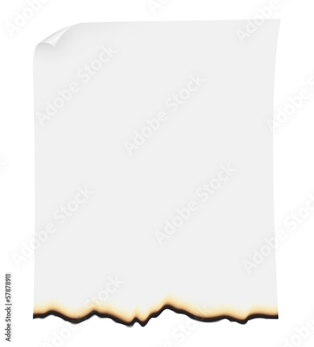 burnt paper vector illustration