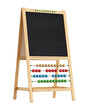 Blackboard with abacus