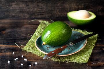 Avocado on a wooden board