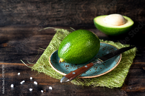 Avocado on a wooden board