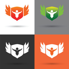 Shield Logo and vector whit background