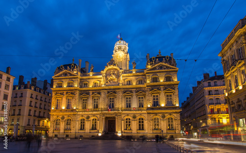 Hotel de ville (City hall) in Lyon, France