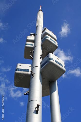 Staande foto Praag Zizkov Television Tower