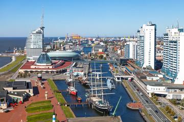 Blick über die Hafenstadt