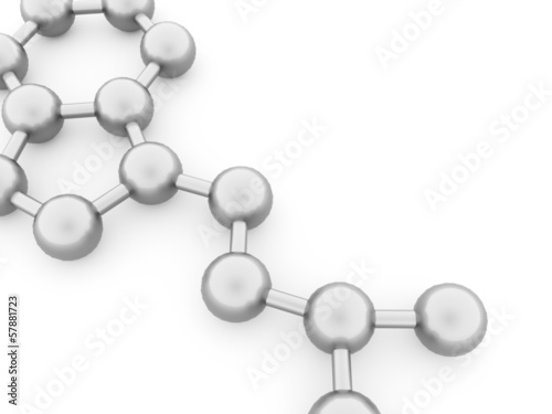 Molecule concept rendered