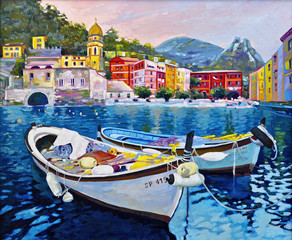 Boats in Portofino