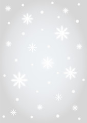 Background snowflakes silver