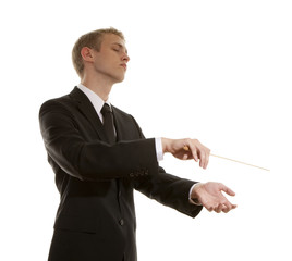 Young musical conductor