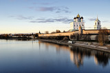 River view on Pskov Kremlin, Krom poster
