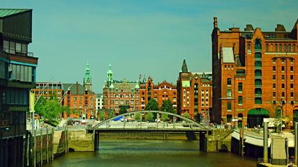 Hamburg in a sunny day