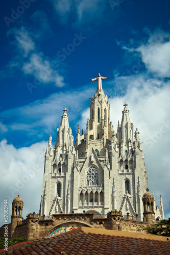 Basilica on the Tibidabo mountain in Barcelona