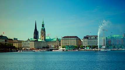Alster Lake, Hamburg, Germany