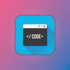 Vector Code Editor Icon