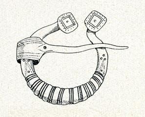 Ancient brooch (13..-14. century, Kurzeme, Latvia)