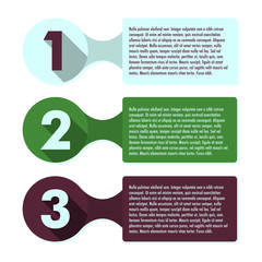 Three steps progress infographic template