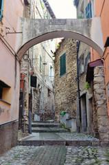"""medieval village, """"la pigna"""" sanremo, italy"""