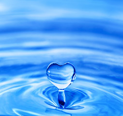 heart shaped water drop