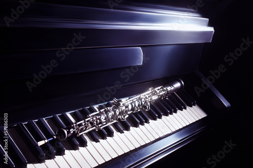 Musical instruments piano and oboe - 57886303