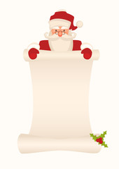 Santa Sign Isolated