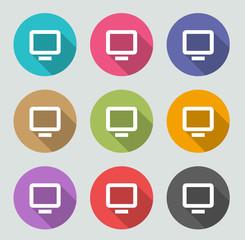Monitor icon - Flat designs