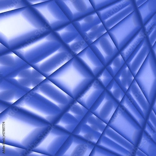 Quilted blue silk
