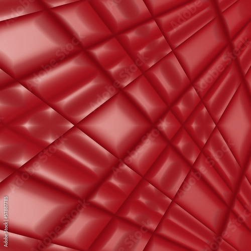 Quilted red silk