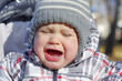 crying baby age of 1 year outdoors